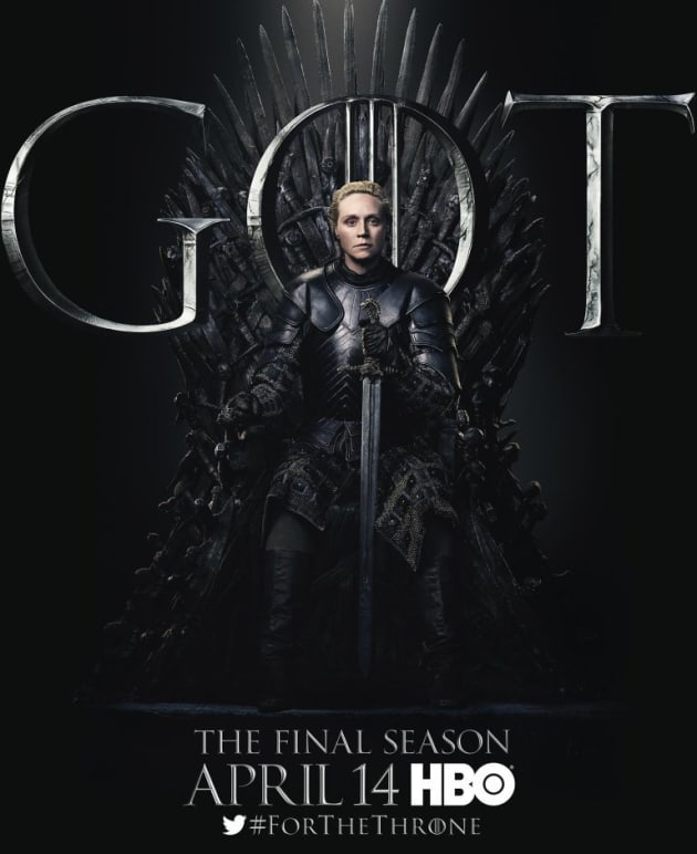 Brienne on the Iron Throne - Game of Thrones