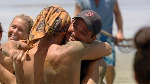 Grant and Boston Rob Hug