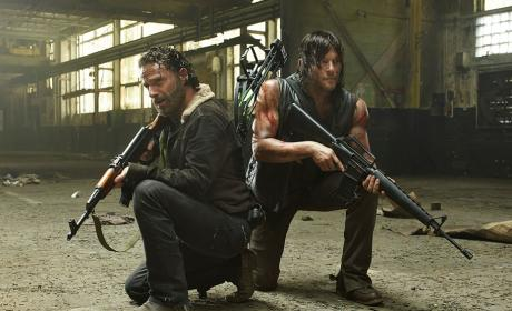 Rick and Daryl in The Walking Dead Season 5