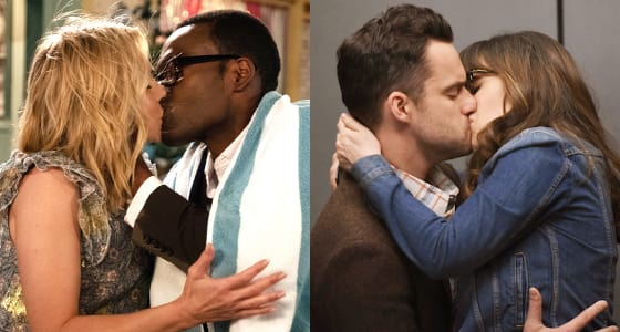 Eleanor and Chidi (The Good Place) & Jess and Nick (New Girl)