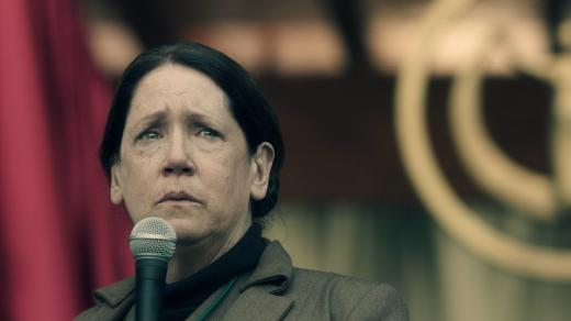 Aunt Lydia at the Microphone - The Handmaid's Tale