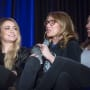 Chelsey Reist, Jessica Harmon, and Luisa d'Oliveira at Unity Days 2018 - The 100