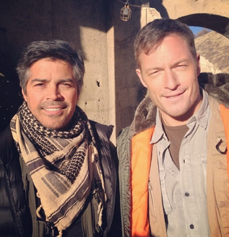 Tahmoh Penikett on Criminal Minds Set