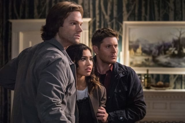 Sam, Dean and Alicia are in shock - Supernatural Season 12 Episode 20
