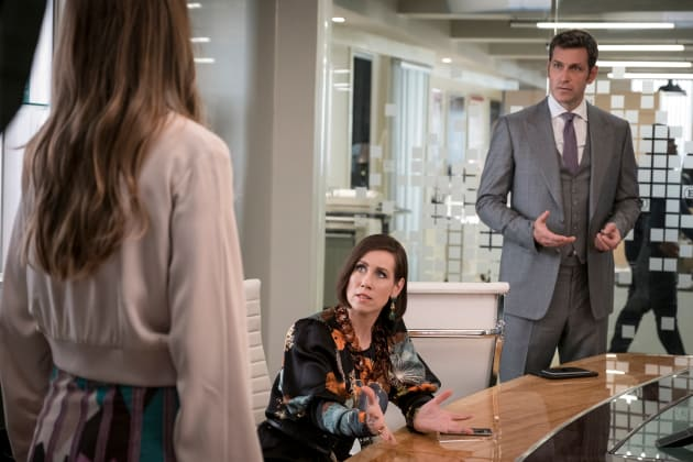 Diana and Charles Look Shocked - Younger Season 4 Episode 1