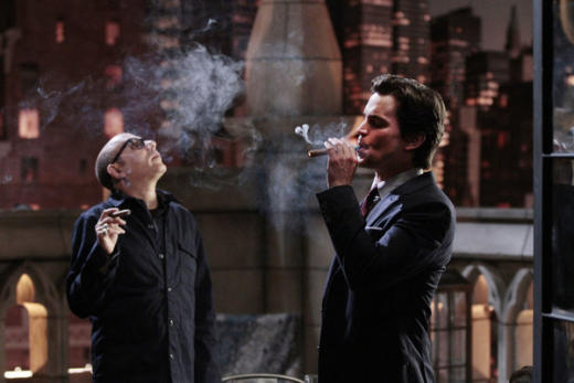 Mozzie and Neal Smoking