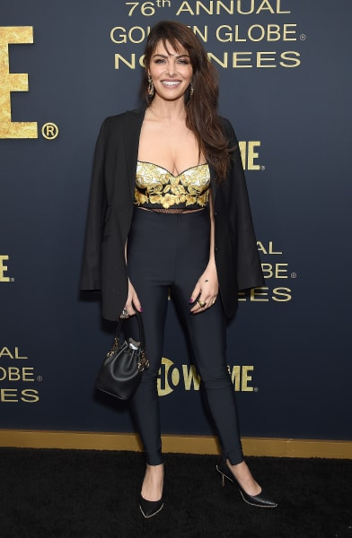 Sarah Shahi Attends Showtime Golden Globe Nominees Celebration