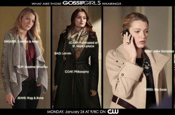 Gossip Girl Fashion: January 24