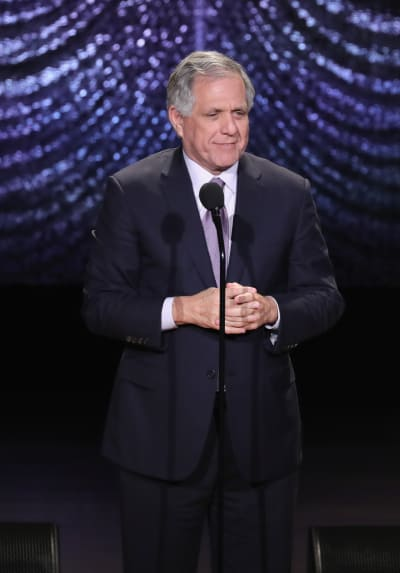 Les Moonves Addresses the Crowd