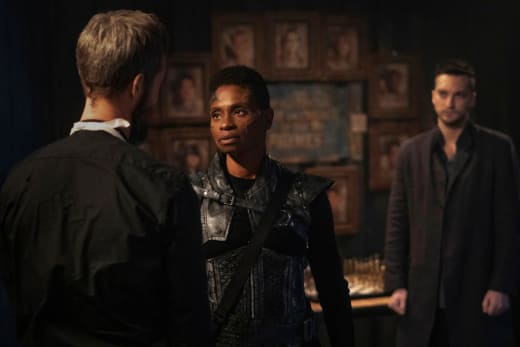 Indra and Murphy In Sanctum - The 100 Season 7 Episode 9