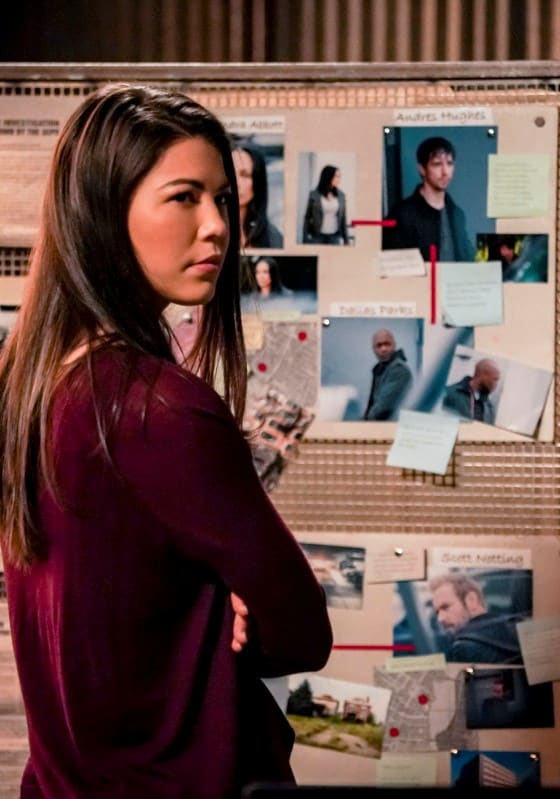 Emiko at the Crime Board - Arrow Season 7 Episode 14