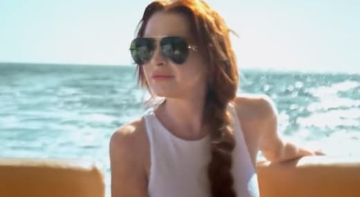 Lohan on a Boat - Lindsay Lohan's Beach Club