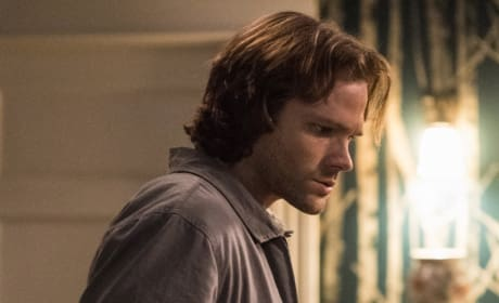 Sam keeps looking at the ground - Supernatural Season 12 Episode 20