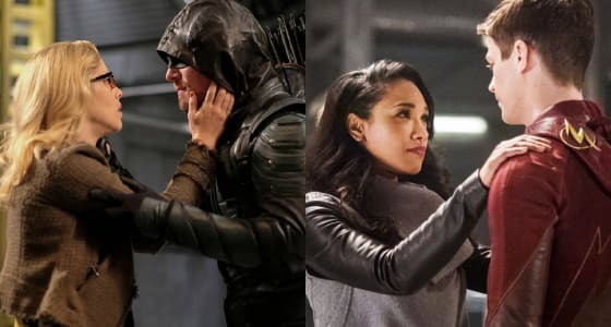 Oliver and Felicity (Arrow) & Barry and Iris (The Flash)