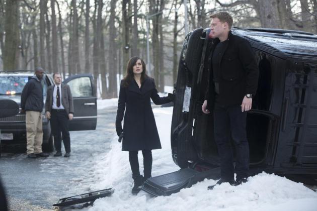 Elizabeth, Ressler and an Overturned Van