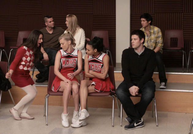 Scene from Glee