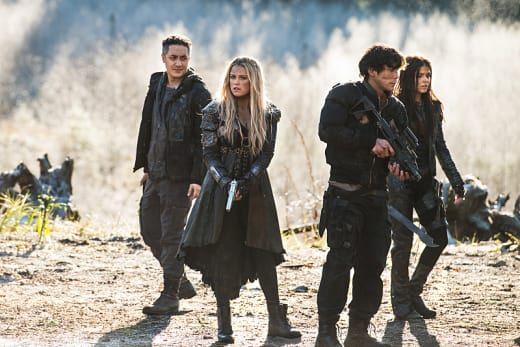 Blake Siblings Working Together - The 100 Season 3 Episode 12