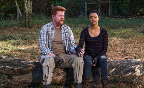 Abraham and Sasha - The Walking Dead Season 7 Episode 16