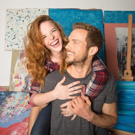 Katie Leclerc and Ryan Cooper Smile