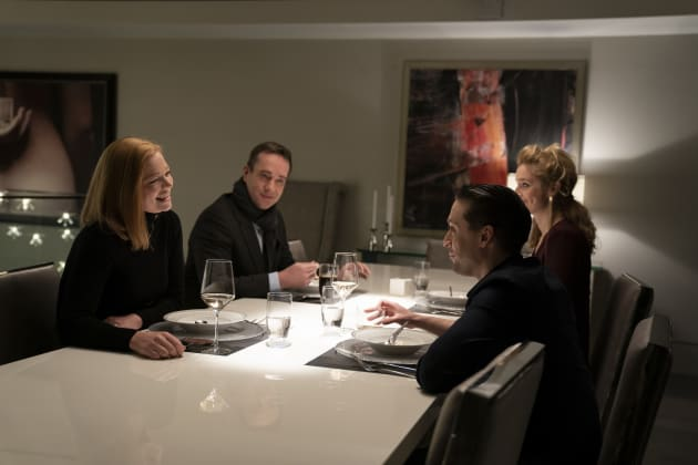 Shiv and Roman Share Dinner with Their Partners - Succession Season 2 Episode 2