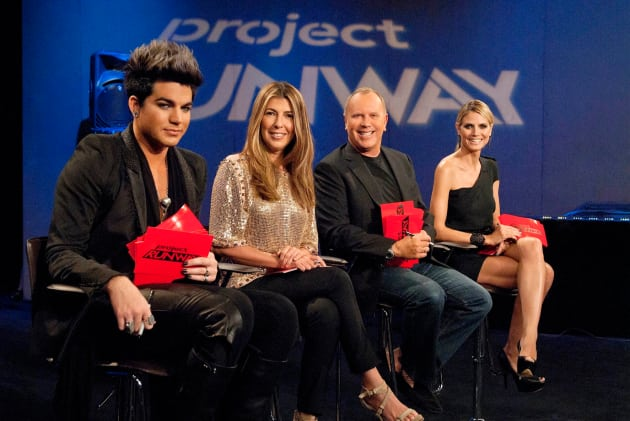 Adam Lambert on Project Runway