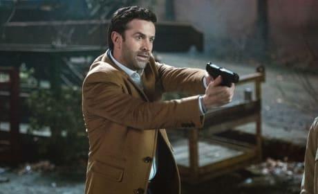 Mick draws his gun - Supernatural Season 12 Episode 17