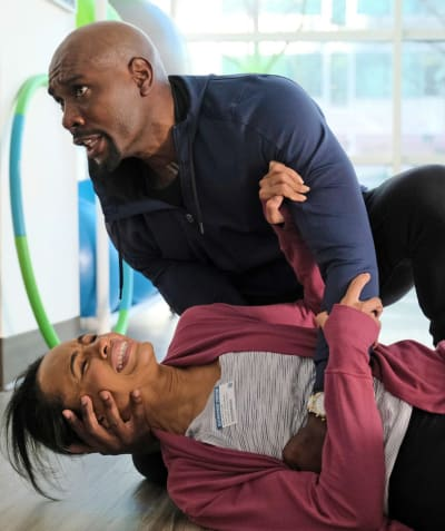 Cain Saves Rose -Tall - The Resident Season 4 Episode 9