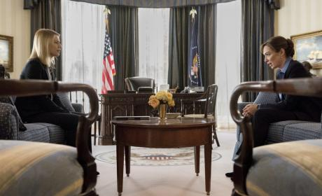 Carrie in the Oval Office - Homeland