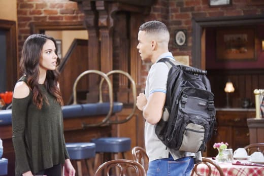 Theo Isn't Happy with Ciara's Date - Days of Our Lives