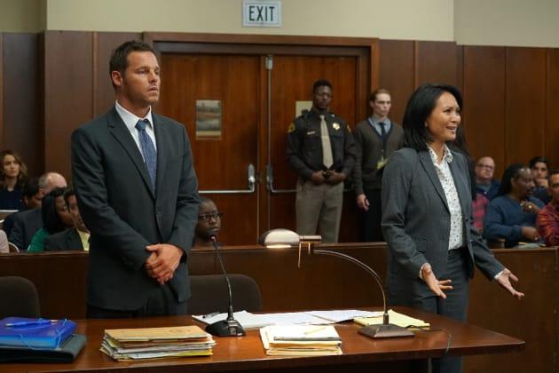 Alex In Court - Grey's Anatomy Season 13 Episode 2