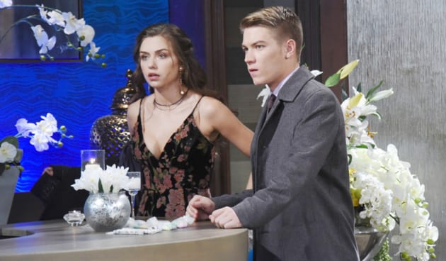 Ciara and Tripp Look Horrified - Days of Our Lives