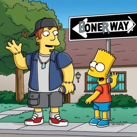 Bart and Andy on Boner Way