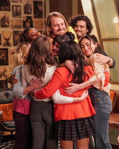 Coterie Crew Group Hug  - tall Good Trouble Season 3 Episode 12