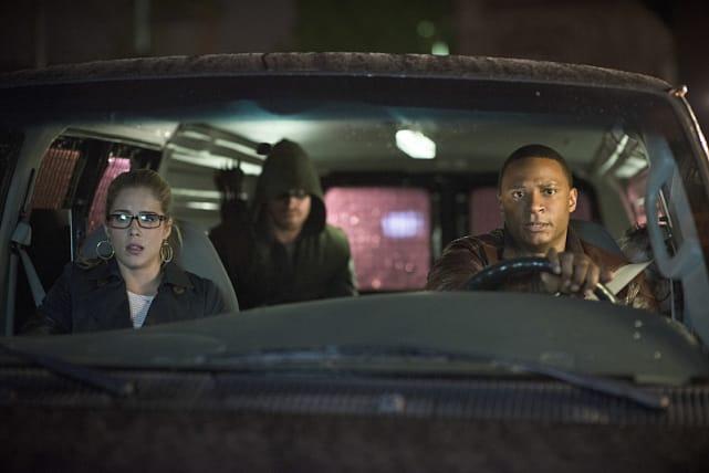 Team Arrow on the Fly Season 3 Episode 7