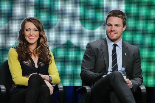 Katie Cassidy and Stephen Amell