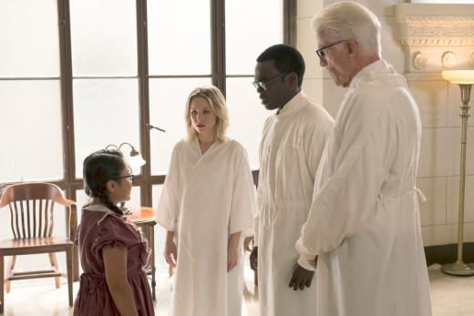 Eleanor, Chidi, and Michael - The Good Place Season 2 Episode 6