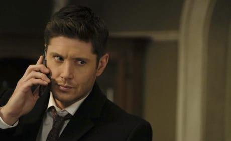 Dean gets off speakerphone - Supernatural Season 12 Episode 15