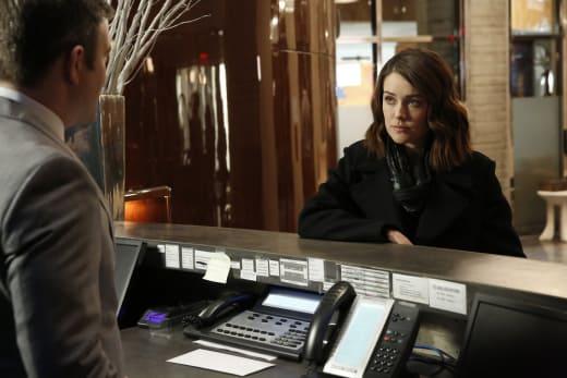 Liz checks in - The Blacklist Season 4 Episode 19