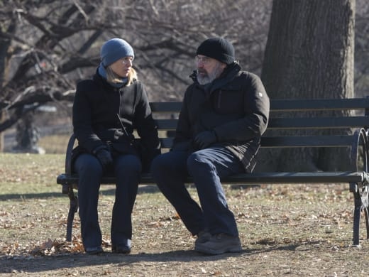 Saul and Carrie Have It Out - Homeland Season 6 Episode 9