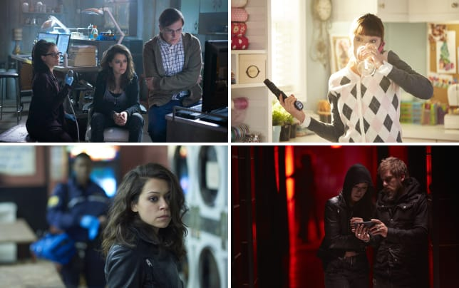 Watching the news orphan black