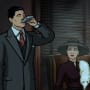 Archer taking a long swig Season 8 Episode 2