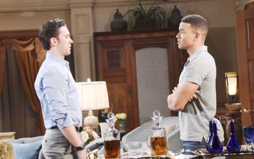 Theo Talks to Chad - Days of Our Lives