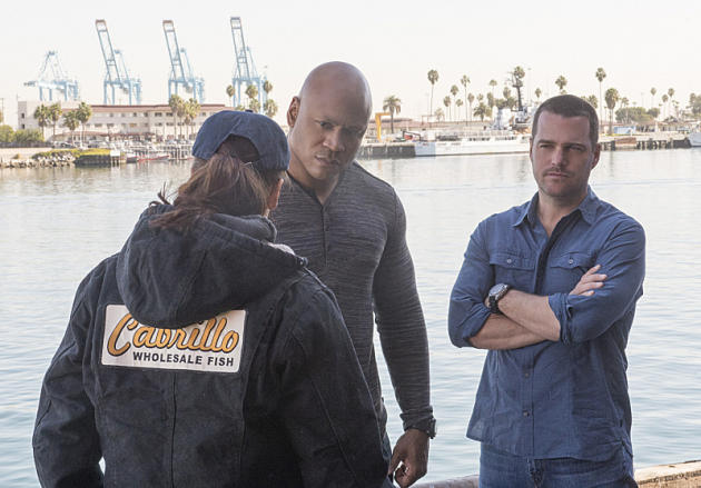 Sam and Callen Talk to Nina at the Port