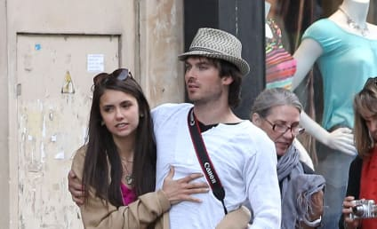 Ian Somerhalder and Nina Dobrev: Cozy in Paris!