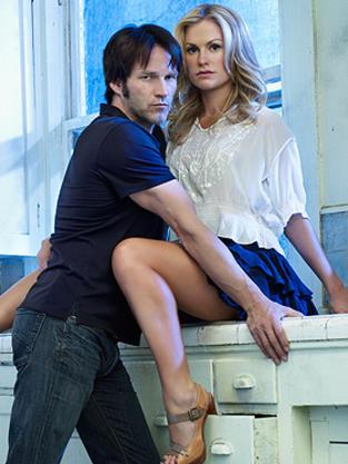 Bill in Between Sookie's Legs