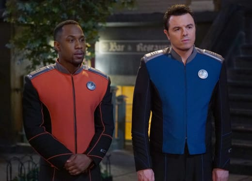 LaMarr and Mercer - The Orville Season 2 Episode 7