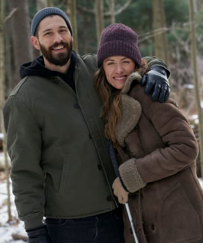 Winter Woods Posing - tall - In The Dark Season 3 Episode 1
