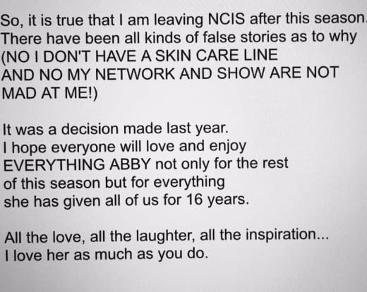 NCIS PAULEY EXIT POST