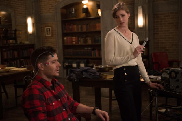 Dean is strapped in - Supernatural Season 12 Episode 22
