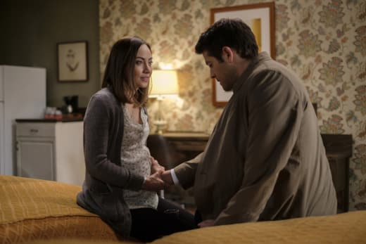 Castiel feels the baby - Supernatural Season 12 Episode 19